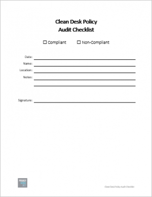 clean desk policy audit checklist